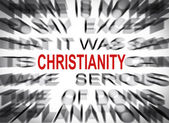 Blured text with focus on CRISTIANITY — Stock Photo
