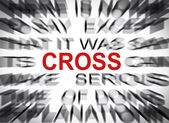 Blured text with focus on CROSS — Stock Photo