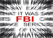 Blured text with focus on FBI — 图库照片
