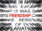 Blured text with focus on FRIENDSHIP — Stock Photo