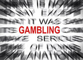 Blured text with focus on GAMBLING — Stock Photo