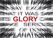 Blured text with focus on GLORY — Stockfoto