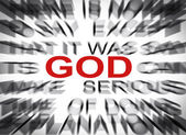 Blured text with focus on GOD — Stock Photo