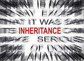 Blured text with focus on INHERITANCE — Stock Photo
