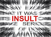 Blured text with focus on INSULT — Stock Photo