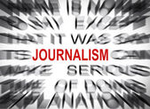 Blured text with focus on JOURNALISM — Stock Photo