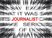 Blured text with focus on JOURNALIST — Stock Photo