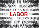 Blured text with focus on LABOR — Stock Photo
