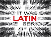 Blured text with focus on LATIN — Foto de Stock
