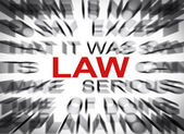 Blured text with focus on LAW — Stock Photo