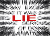 Blured text with focus on LIE — Stock Photo