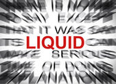 Blured text with focus on LIQUID — Stock Photo
