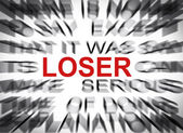 Blured text with focus on LOSER — Stock Photo