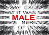 Blured text with focus on MALE — Stock Photo