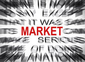 Blured text with focus on MARKET — Stock Photo