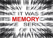 Blured text with focus on MEMORY — Stockfoto