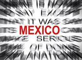 Blured text with focus on MEXICO — Stock Photo