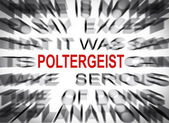 Blured text with focus on POLTERGEIST — Stock Photo