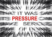 Blured text with focus on PRESSURE — Stock Photo