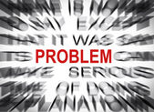 Blured text with focus on PROBLEM — Stock Photo
