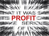 Blured text with focus on PROFIT — Stock Photo
