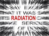 Blured text with focus on RADIATION — Stock Photo
