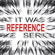Blured text with focus on REFERENCE — Stock Photo