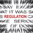 Stock Photo: Blured text with focus on REGULATION