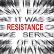Blured text with focus on RESISTANCE — Stock Photo