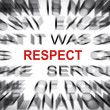 Stock Photo: Blured text with focus on RESPECT