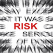 Stock Photo: Blured text with focus on RISK
