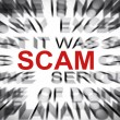 Blured text with focus on SCAM — Stock Photo