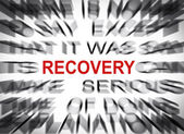 Blured text with focus on RECOVERY — Zdjęcie stockowe