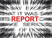 Blured text with focus on REPORT — Stock Photo