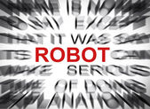 Blured text with focus on ROBOT — Stock Photo