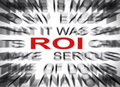 Blured text with focus on ROI — Stock Photo