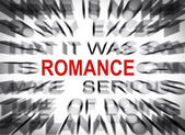 Blured text with focus on ROMANCE — Foto de Stock