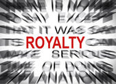 Blured text with focus on ROYALTY — Foto de Stock