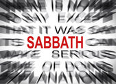 Blured text with focus on SABBATH — Stock Photo