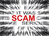 Blured text with focus on SCAM — Foto de Stock