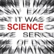 Stock Photo: Blured text with focus on SCIENCE