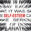 Blured text with focus on SELF-ESTEEM — Stock Photo
