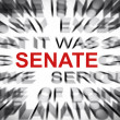 Stock Photo: Blured text with focus on SENATE