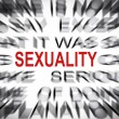 Blured text with focus on SEXUALITY — Stock Photo