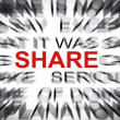 Blured text with focus on SHARE — Stock Photo