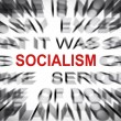 Blured text with focus on SOCIALISM — Stock Photo
