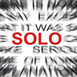 Stock Photo: Blured text with focus on SOLO