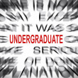 Blured text with focus on UNDERGRADUATE — Stock Photo #33935771