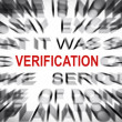 Blured text with focus on VERIFICATION — Stock Photo