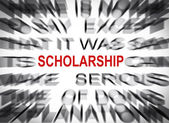 Blured text with focus on SCHOLARSHIP — Stock Photo